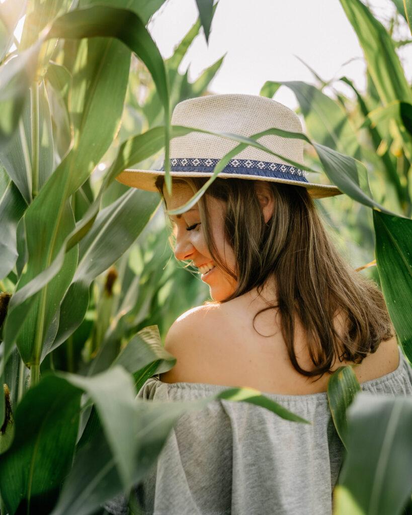 sesja w plenerze kukurydza Oława