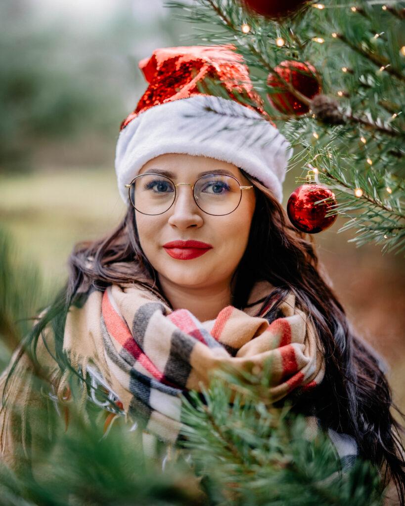 sesja świąteczna w choinkach jelcz-laskowice