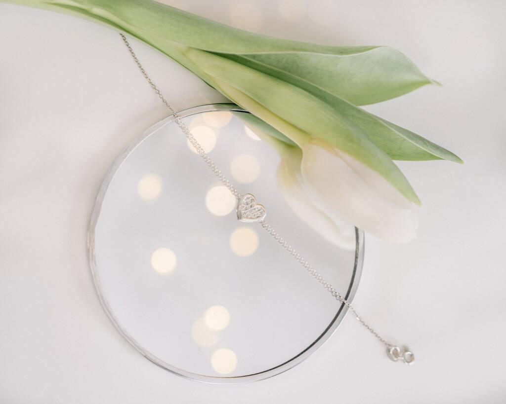 biżuteria lusterko tulipan bransoletka